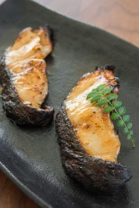 Black Cod (a.k.a. Sablefish) marinated in a miso glaze.