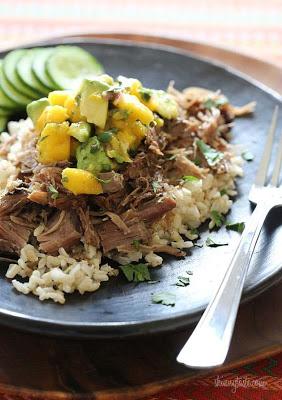 Slow Cooked Jerk Pork with Caribbean Salsa
