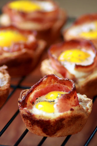 Bacon & Eggs in Toast Cups