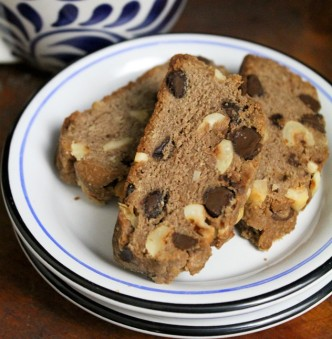 Hazelnut Chocolate Chip Biscotti
